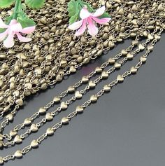 1m Antique  Bronze Chain/brass Chain/Link Chain/for Necklace/for Bracelet/Fashion Necklace Chain  all connect together. you can take it as ready-to...