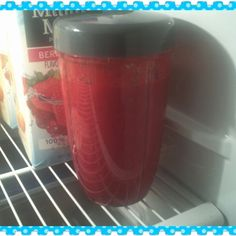 Breffis is ready for tomorrow! Carrot, Ginger, Beet, Cucumber, Banana. #Nutribullet #Nutriblast