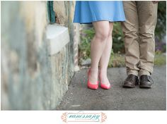 Jazz up your engagement session with some vibrant shoes! I loved Kristen and Kyle's engagement session outfits! Need inspiration? Find it on the blog!
