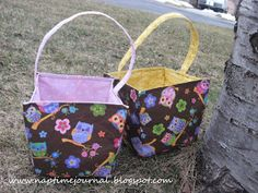 Nap Time Journal: Fabric Easter Baskets