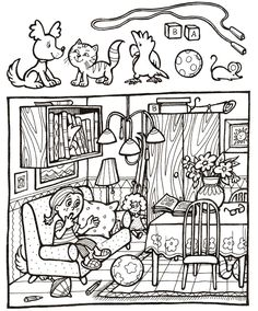 Preschool Worksheets, Kindergarten Activities, Preschool Activities, Hidden Pictures Printables, Hidden Picture Puzzles, Hidden Objects, Halloween Pictures, Color Activities, Speech And Language