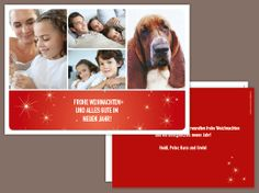 Weihnachtskarte «Sternenrot»