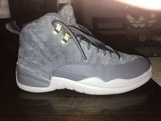 2ff96587f7985 Nike Air Jordan Retro 12 Sneakers - Size 9 Wolf Grey  fashion  clothing