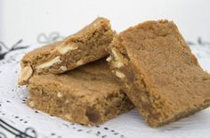 Peanut Butter and White Chocolate Blondies