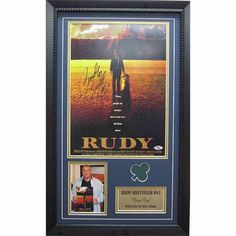 Ncaa 14x24 Autographed Frame, Rudy Ruetiger Notre Dame