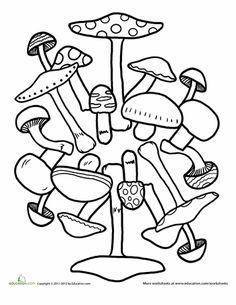 Worksheets Magnificent Mushroom Mandala