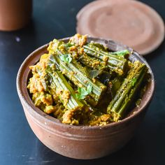 Drumstick Masala/ Murungakkai Masala  http://www.relishthebite.com/drumstick-masala-murungakkai-masala/  A south Indian vegan gourmet stir fry made with simple ingredients. :)  #relishthebite #southIndianFood #food #recipes #foodie #hungry #Indianfood