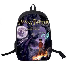 Harry Potter Backpack bag unisex adult teens college book laptop carrying case luggage carry on cursed child spells
