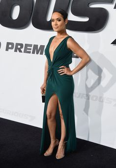Actress Grace Gealey of 'Empire' fame at the Premiere 'Furious 7'