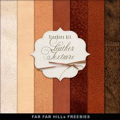 Far Far Hill: New Freebies Kit of Backgrounds - Leather Texture