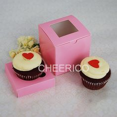 Decorative Cupcake Boxes 25 Sets Of Clear Cupcake Box And 1 Silver Cupcake Holder$120