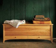 New England Blanket Chest. From Pompanoosuc Mills. American hardwood furniture. Hand crafted in Vermont.