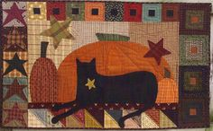 Primitive+Folk+Art+Wall+Quilt+Pattern++BLACK+by+PrimFolkArtShop,+$8.85