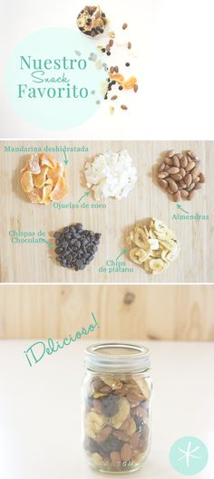 Un trail mix es un snack denso en calorías, así que es ideal para quitar el hambre en un día en el que tengas muchas cosas que hacer, aquí una receta.