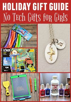 Are you looking for gift ideas that don't involve technology? Then you need to check out our Holiday Gift Guide on No Tech Gifts for Girls.