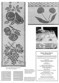 Risultati immagini per manteles con flores tejidos crochet filet Filet Crochet Charts, Crochet Diagram, Crochet Motif, Crochet Patterns, Crochet Fruit, Crochet Fall, Diy Crafts Crochet, Handmade Crafts, Mosaic Flowers