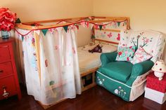 Kura bed decoration  - an ikea hack