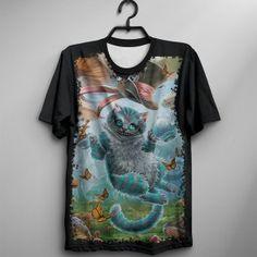 Camiseta cheshire cat alice in wonderland