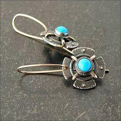 Strukova Elena - author's jewelry - earrings with turquoise