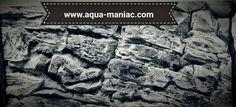 3d aquarium background grey rock for cichlid or marine aquariums. Order yours on www.Aqua-maniac.com