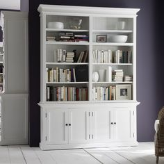 Fill out your living room or study and display your books and keepsakes with this magnificent Double Hutch. Finished in all white with crown and base molding, it will add sophistication and storage acumen to your home.