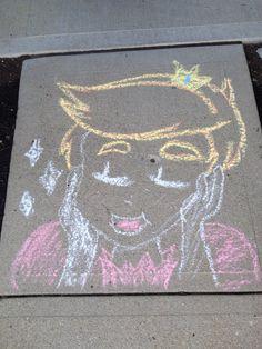 Jimmy Whetzel chalk art