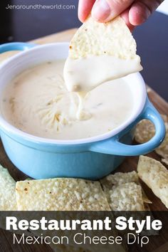 Cheese Dip Restaurant Style Mexican Cheese Dip -- yes this is THE DIP that you get from the Mexican restaurant.Restaurant Style Mexican Cheese Dip -- yes this is THE DIP that you get from the Mexican restaurant. Appetizer Dips, Appetizer Recipes, Recipes Dinner, Dinner Ideas, Mexican Appetizers, Cheese Appetizers, Yummy Appetizers, Breakfast Recipes, Cheese Dip Mexican
