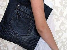 08d3628da2 DIY jean bag - very good tutorial so even if you don t speak Greek