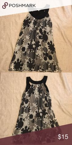 Matty M dress Black/Grey/white dress. Lined. Can be worn as a dress or a tunic. Never worn Matty M Dresses Midi