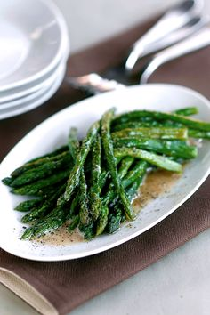 A homemade butter made for the tasty, bold flavor of balsamic vinegar. In this dish, we use asparagus with its stalky, unique presence and top it with a zesty butter sauce.