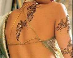 Henna tatoos are temporary so that they can be changed every month or two.