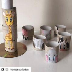 21 Creative and Fun Toilet Paper Roll Crafts Kids Will Love Making This! In this post, I'm sharing all of our favorite toilet paper roll crafts easy and paper towel roll crafts as well as ways to use other cardboard tubes for art, crafts and activities. Baby Art Activities, Toddler Learning Activities, Montessori Activities, Kids Learning, Family Activities With Toddlers, Motor Activities, Kids Crafts, Art Crafts, Recycled Crafts For Kids