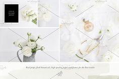 The White Floral Bun