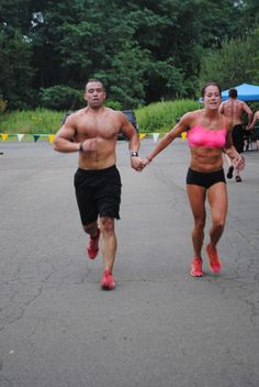 The couple that runs together kicks ass together.  Mens Fitness     Want a partner.
