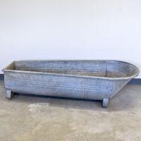 Vintage Galvanized Cowboy Bathtub. Make It An Outdoor Spa Under Flowering  Vines