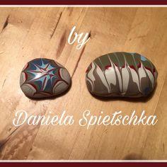 Mit GoniDecor Farben schöne kreative Steine gestaltet.