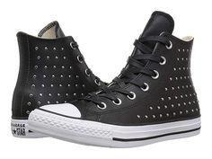 514dac2a39d14 Converse Chuck Taylor All Star Leather Studs Hi Women s Shoes Black Black Silver  Converse