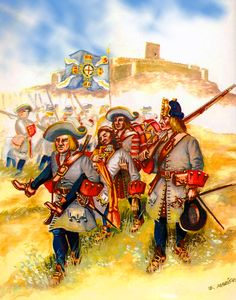 Dutch troops at the Battle of Almansa, War of the Spanish Succession
