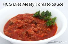 Easy HCG recipe.... Almost taste like spaghetti sauce, but is HCG safe! www.diyhcg.com