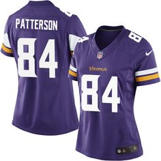 c8426baf7 Women s Cordarrelle Patterson Elite Purple Nike Jersey  NFL Minnesota  Vikings  84 Home Nike Elite