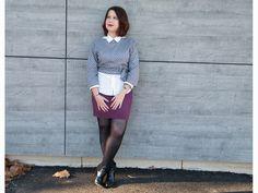 skirt, crop top, dot, pois