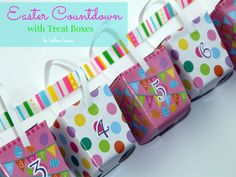 Fun Easter Countdown with Treat Boxes | Club Chica Circle - where crafty is contagious