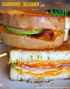 Grilled Cheese with Bacon and Apple