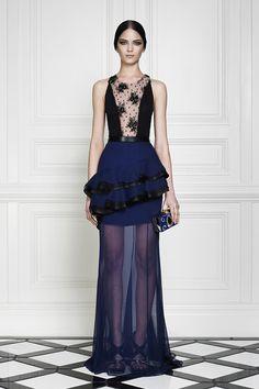 Jason Wu deep blue peplum gown