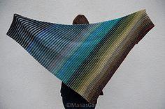 Ravelry: Eugenia, Diagonally striped shawl pattern by marias garn