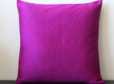 Purple Pink Pillow Solid Pillow Purple Pink Throw by TheHomeCorner