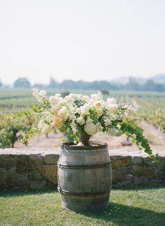 Rustic chic winery wedding florals: http://www.stylemepretty.com/california-weddings/geyserville-california/2015/11/23/chic-rustic-winery-wedding-in-california/ | Photography: Silvana DiFranco - http://silvanadifranco.com/