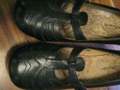 Hush Puppies Girls Black Leather Court Shoes Size 5 (Worn Twice) #HushPuppies #Court