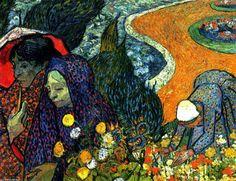 Ladies of Arles (Memories of the Garden at Etten) (1888) - Vincent Van Gogh