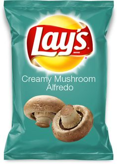 Would you eat Garlic Fried Mushrooms flavored Lays? Lays Chips Flavors, Potato Chip Flavors, Lays Potato Chips, Fried Mushrooms, Steak And Mushrooms, Bacon Stuffed Mushrooms, Chicken Mushroom Gravy, Mushroom Alfredo, Bacon Mushroom